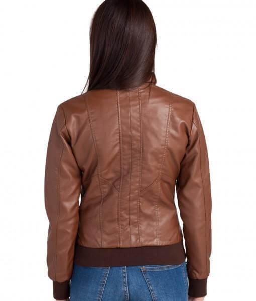 Bendy Women Bomber Leather Jackets 2