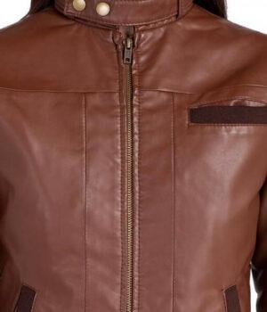 Bendy Women Bomber Leather Jackets 3
