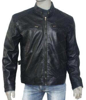 Bluster Men Biker Leather Jacket