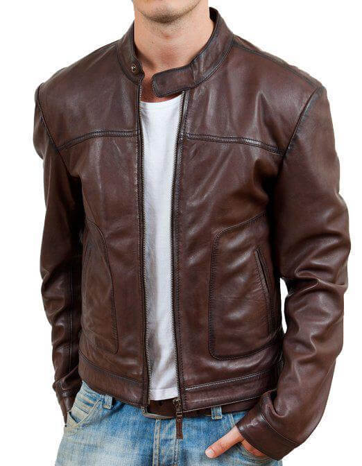 Brownish Men Classic Leather Jackets