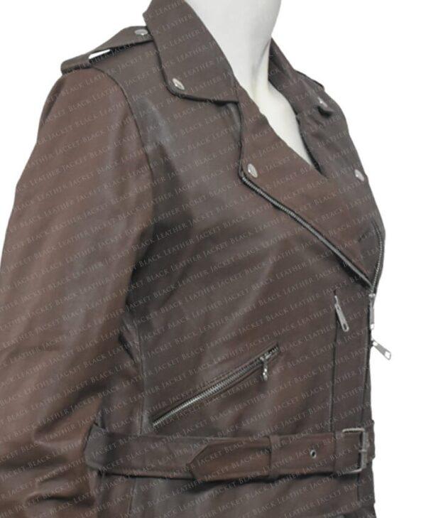 Classic Nancy Women Leather Jacket Right Side