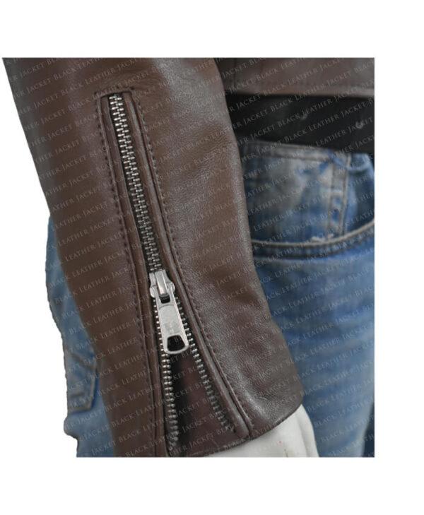 Classic Nancy Women Leather Jacket Rip