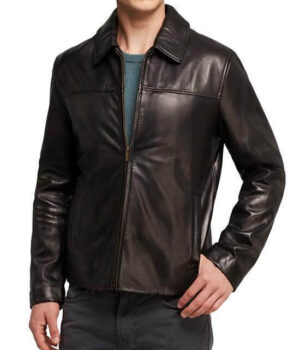 Men Classic Leather Jackets Smooth