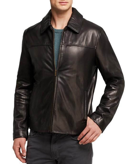 72d67ffca17 Smooth Classic Leather Men Jacket