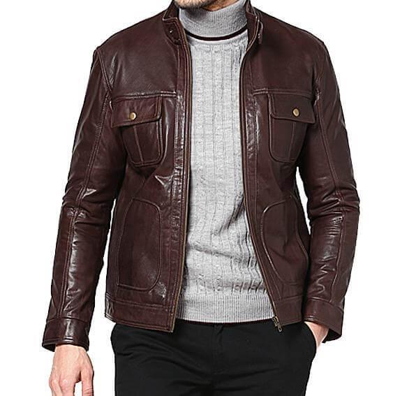 Men Classic Leather Jackets Super Niyo 3