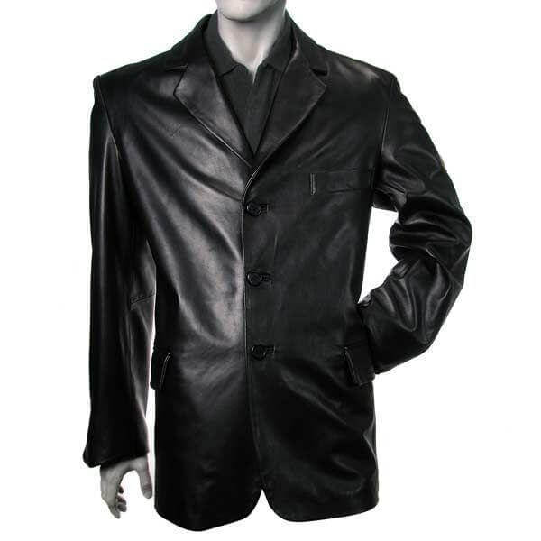 Men Leather Coats Silky