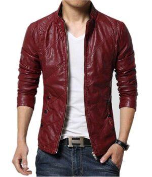 Men Leather Jackets Autumn Soft Faux