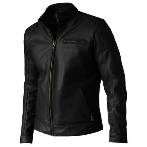 Premium Quality Men's Biker Black Leather Jacket