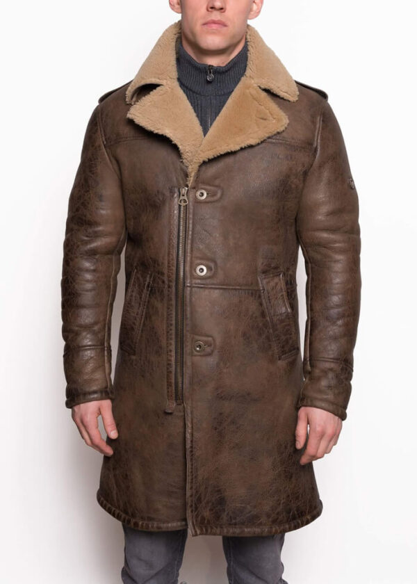 Shearling-Trench-Coat-Men-Black-Leather-Jacket