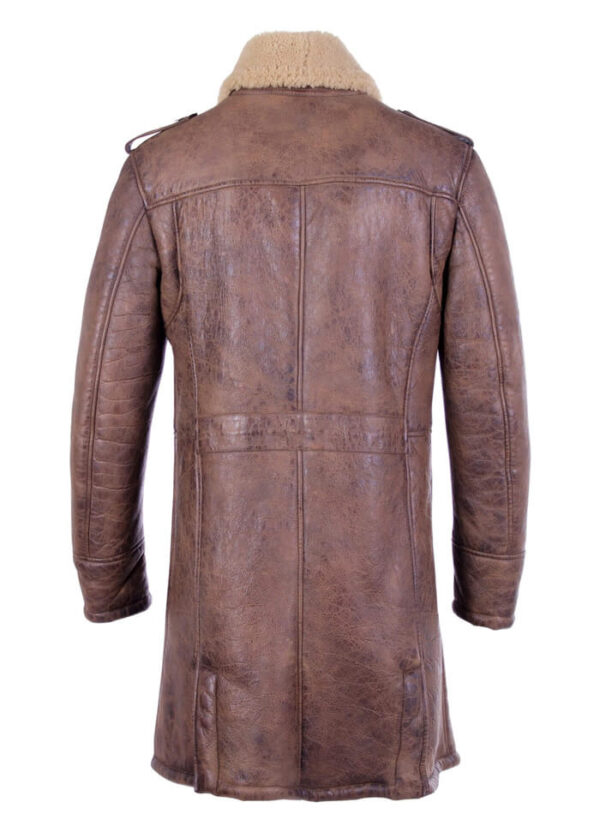 Shearling-Trench-Coat-Men-Black-Leather-Jacket-Back