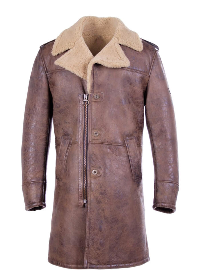 closer at 50-70%off cute Brown Shearling Trench Coat