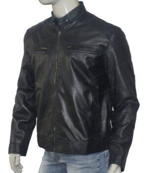 Bluster Men Biker Leather Jacket Left