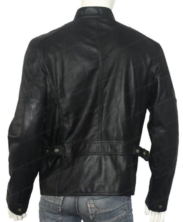 Bluster Men Biker Leather Jacket Back