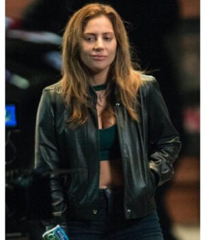 Lady Gaga Black Leather Jacket