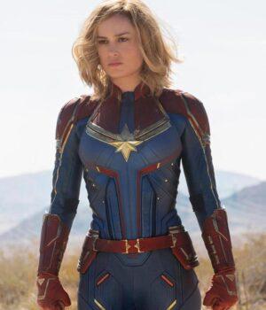 Brie Larson Captain Marvel Leather Jacket