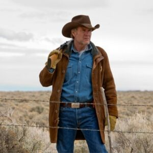 Robert Sheriff Walt Longmire Suede Leather Coat
