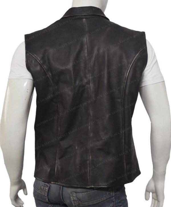 Hell On Wheels Cullen Bohannon Leather Vest Back