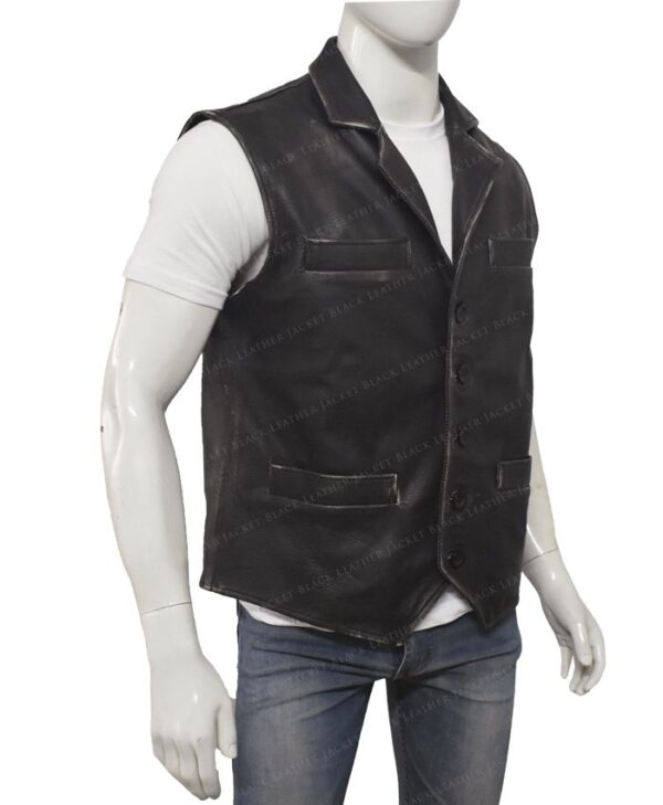 Hell On Wheels Cullen Bohannon Leather Vest Right