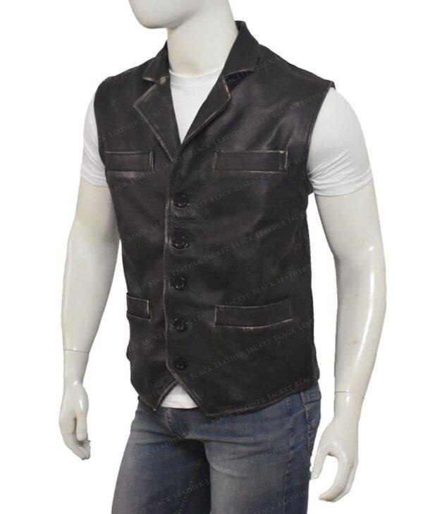 Hell On Wheels Cullen Bohannon Leather Vest Left