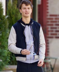 Baby Driver Ansel Elgort Bomber Cotton Jacket