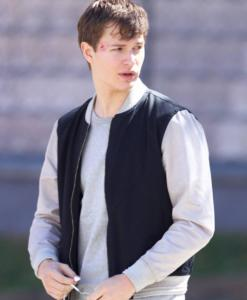 Baby Driver Ansel Elgort Cotton Jacket