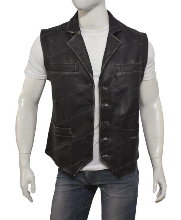 Hell On Wheels Cullen Bohannon Leather Vest Open