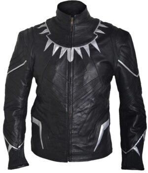 Avengers Black Panther Chadwick Boseman Black Jacket