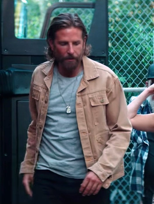 A Star Is Born Bradley Cooper Khaki Cotton Jacket