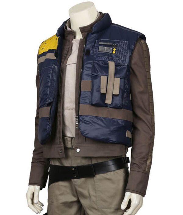 Rogue One Cassian Andor Blue Satin Vest