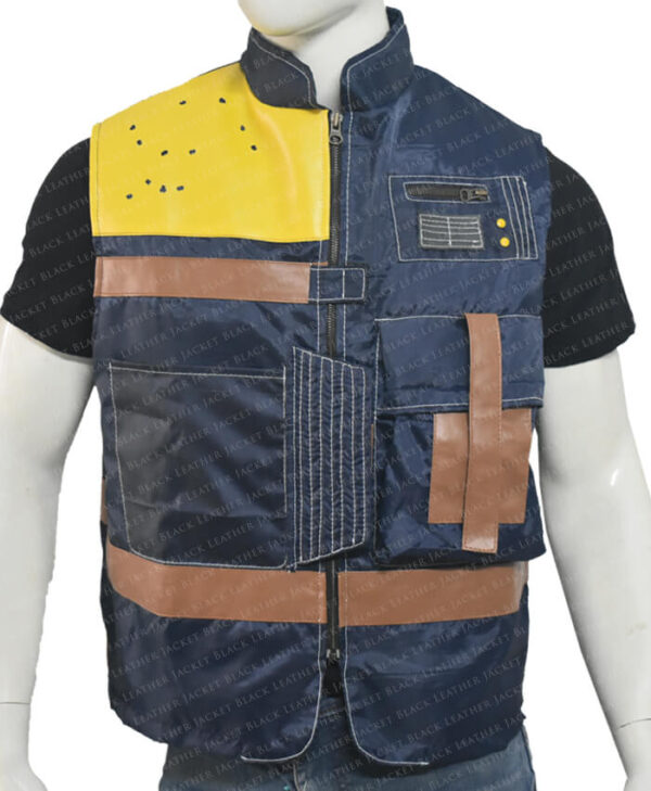 Cassian Andor Rogue One Blue Vest Front