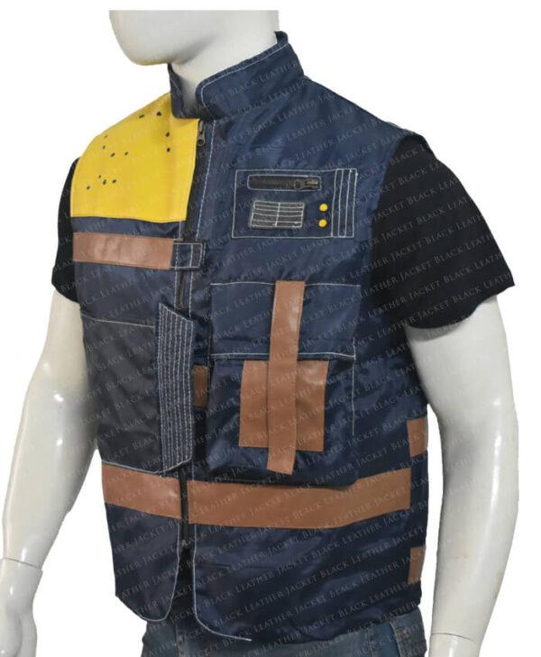 Cassian Andor Rogue One Blue Vest Left Side