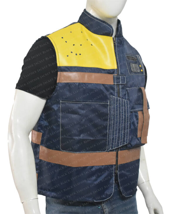 Cassian Andor Rogue One Blue Vest Right Side