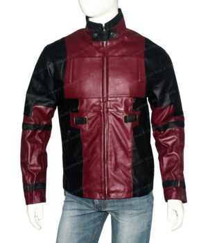 Deadpool Ryan Reynolds Leather Red Jacket