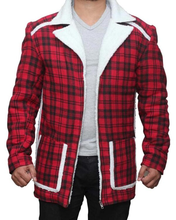 Wade Wilson Deadpool Red Plaid Jacket