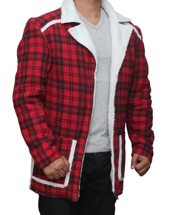 Wade Wilson Deadpool Red Shearling Jacket