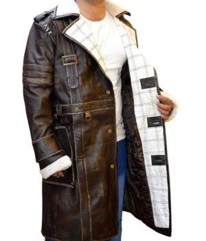 Fallout 4 Elder Maxson Brown Distress Coat