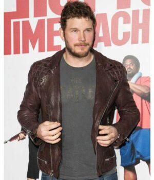 Chris Pratt Hot Tub Time Machine 2 Premiere Brown Jacket