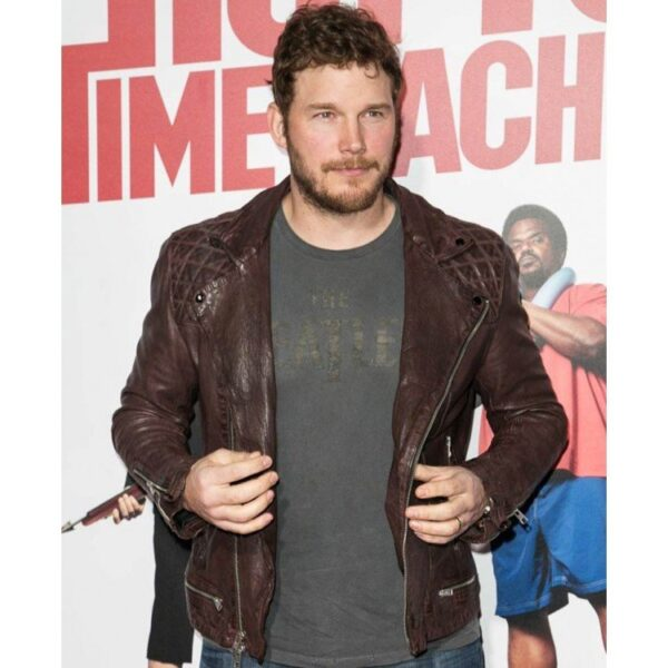 Chris Pratt Hot Tub Time Machine 2 Premiere Brown Jacket