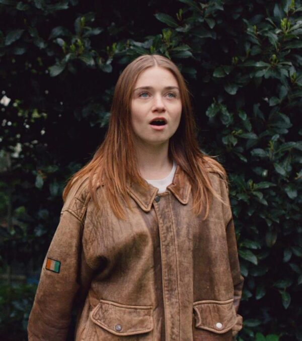 The End Of The Fucking World Jessica Barden Brown Oversized Jacket