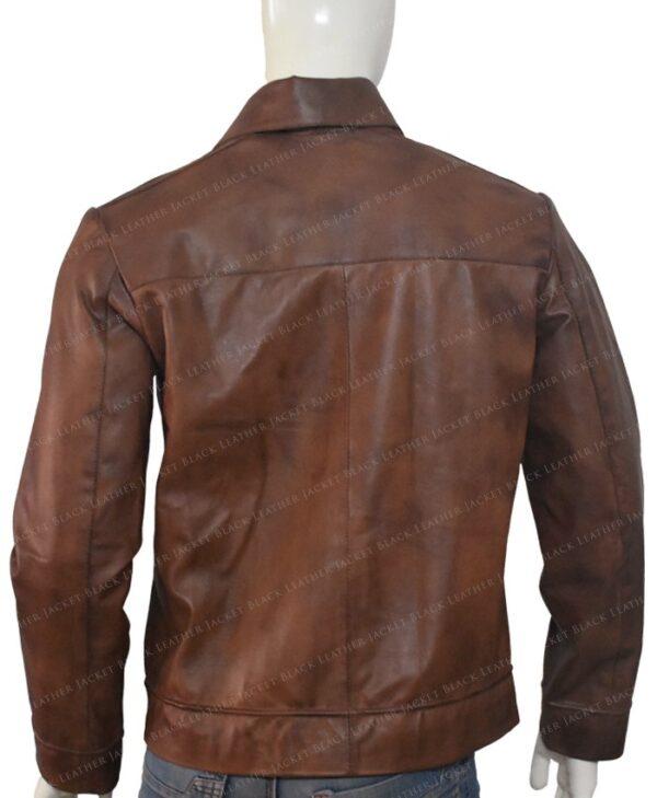Keanu Reeves John Wick Movie Brown Leather Jacket Back