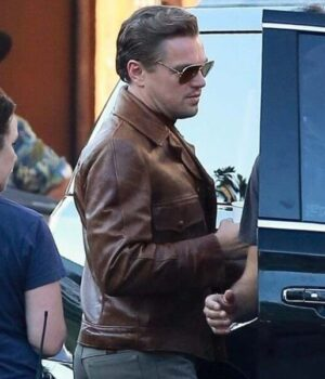 Once upon A Time In Hollywood Leonardo DiCaprio Brown Leather Jacket