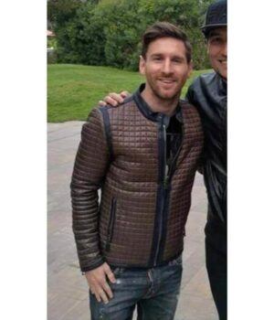 Messi Quilted Leather Jacket
