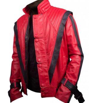 Thriller Michael Jackson King Of Pop Red Jacket