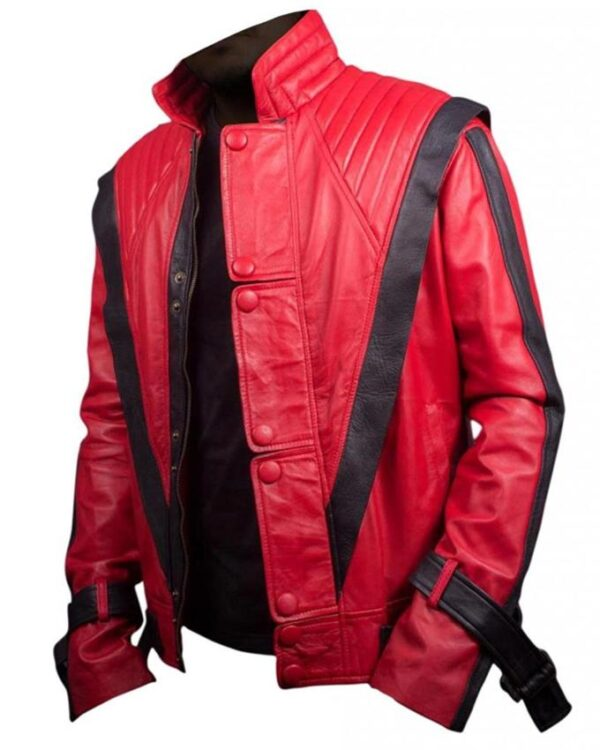 Thriller Michael Jackson King Of Pop Red Jacket
