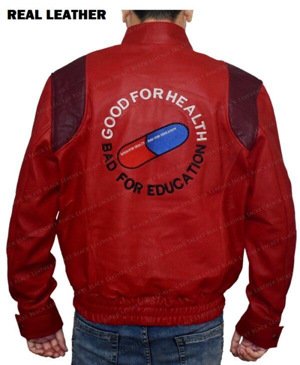 Red Akira Kaneda Leather Jacket Back