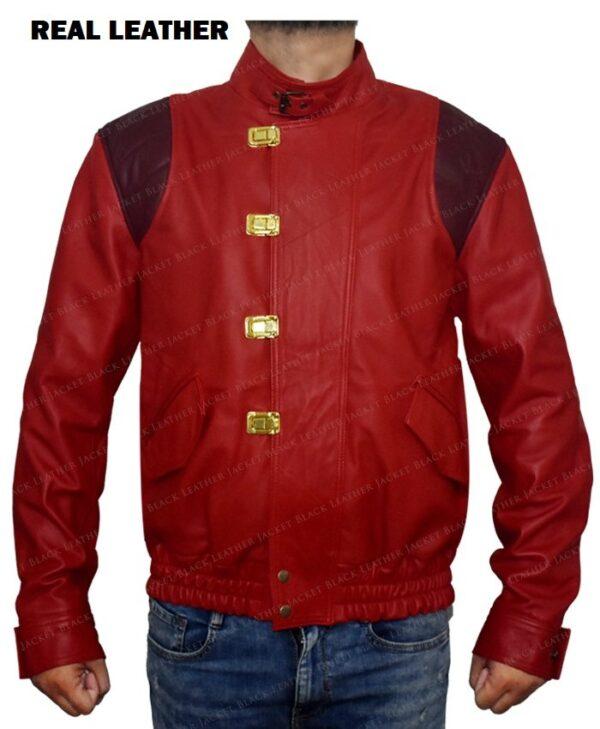 Red Akira Kaneda Leather Jacket Front