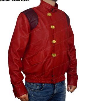 Red Akira Kaneda Leather Jacket Right Side