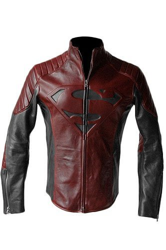 Superman Smallville Maroon And Black Jacket