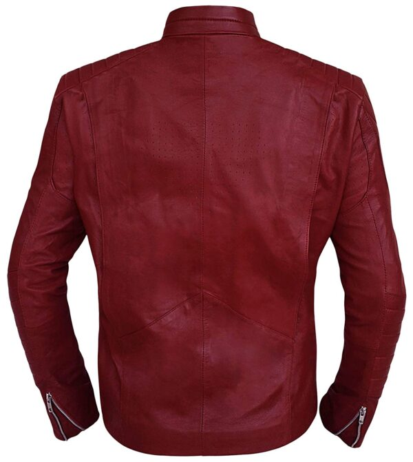 Superman Smallville Maroon Leather Jacket