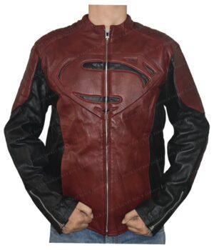 Smallville Superman Maroon And Black Jacket